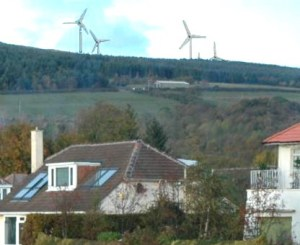 An impression of how the turbines might look from Kidston Park