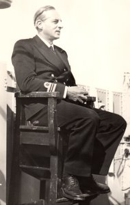 Lt Cdr Alan Miller during his service in the wartime Royal Navy