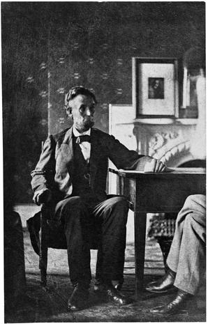 A. Lincoln in his White House office 1864