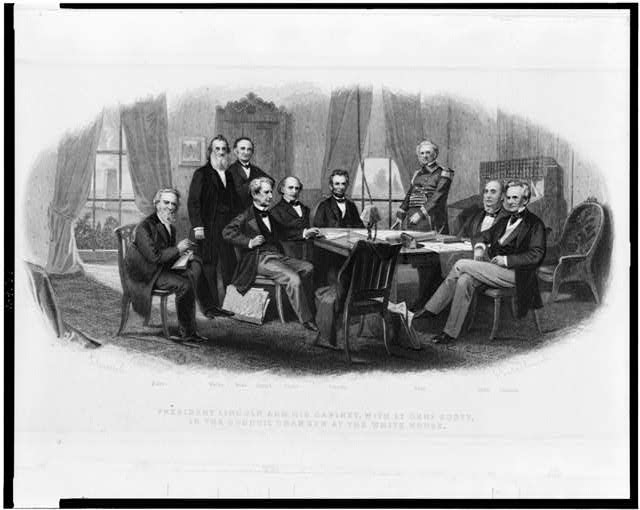 Lincoln and His Cabinet with Gen'l Scott