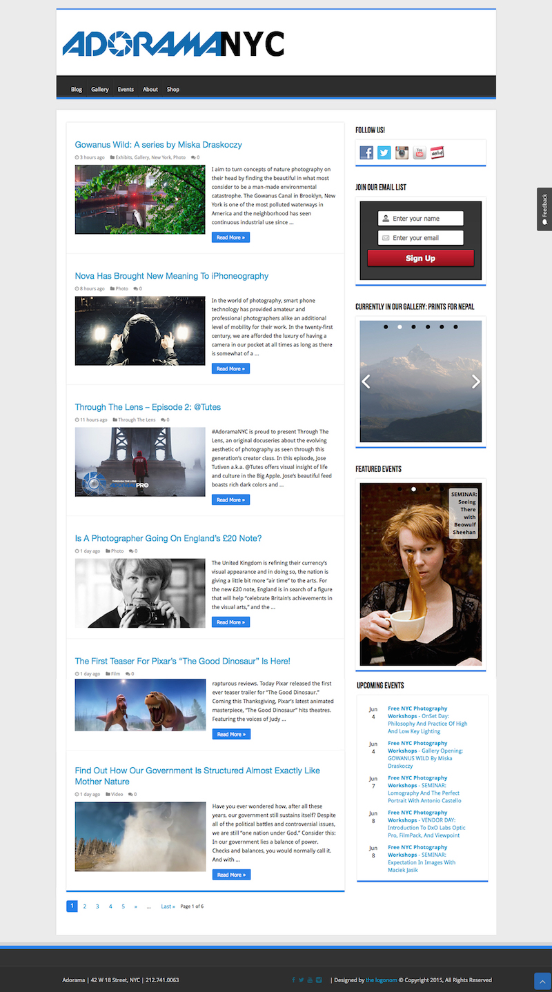 Adorama NYC website