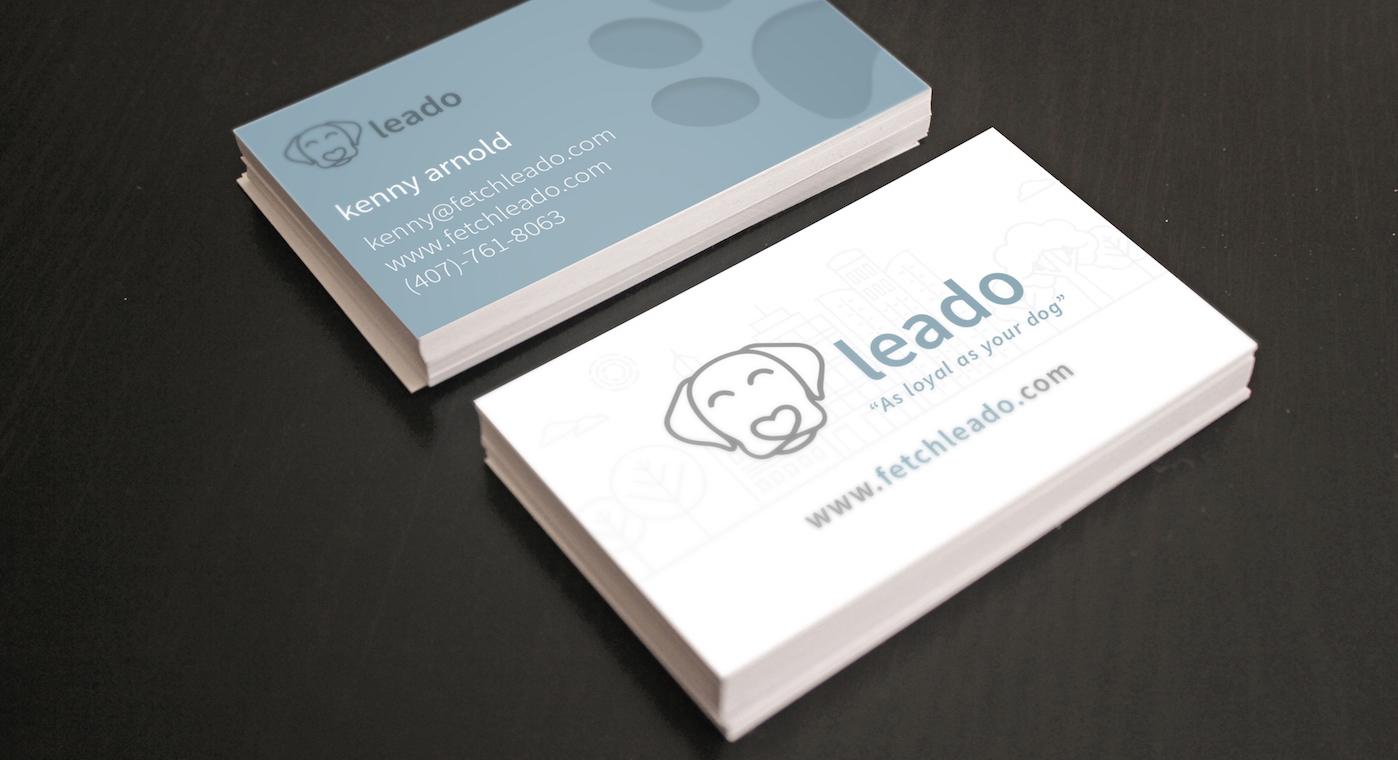 Leado Business Card design
