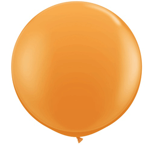 large orange balloon 3ft