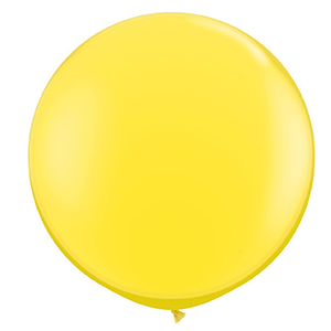 large 3ft yellow balloon