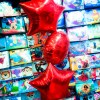 red foil balloons