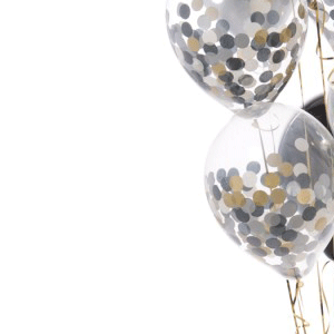 inflated confetti helium filled balloon delivery