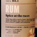"SMWS R6.1 Barbados 2002 14 Year Old Rum (""Spice At The Races"") - Review"