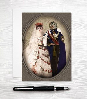 Cat Wedding Card