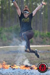 Jumping over the finish line!