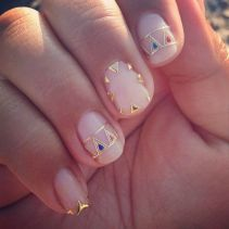 geometric inspired nail art