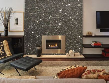 glitter-wall-fireplace