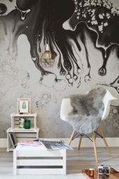 black-ink-drips-white-wall