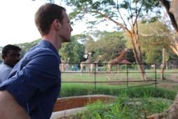 Jamie channeling his spirit animal, the giraffe