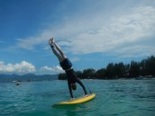 Bit of afternoon paddleboard Yoga