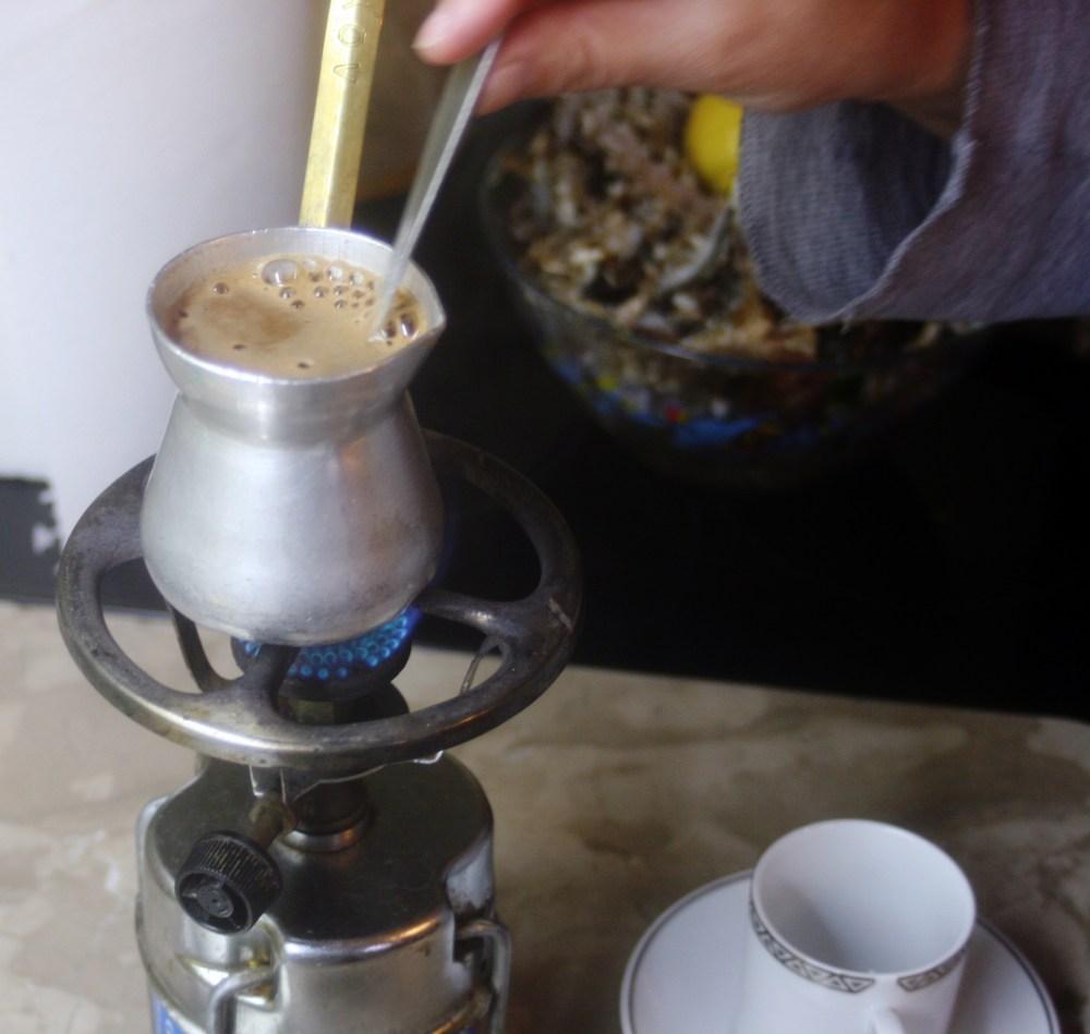 Greek coffee. Step-by-step instruction. (4/6)