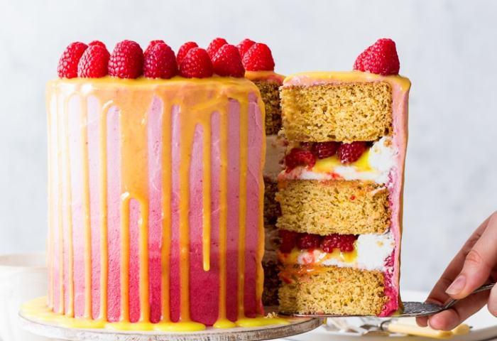 Vegan Raspberry Lemon Cake The Loopy Whisk