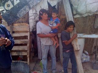 poor family in Juarez, Mexico