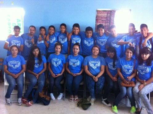 group shot of youth at Las Alitas