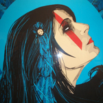 Kraken silkscreen print on paper at Hold Up Art in Los Angeles