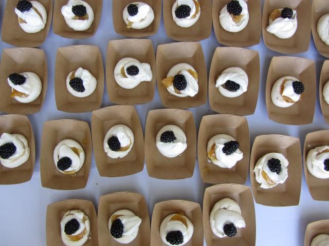 Proof Bakery's Pavlova with Meyer Lemon and Blackberry from Taste of the Eastside 2012 (Elise Thompson)
