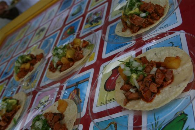 Loteria Grill's Tacos al Pastor with a surprising and refreshing hint of pineapple