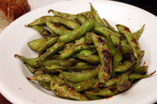 Spicy Charred Edamame at Bluewater Grill, Redondo Beach