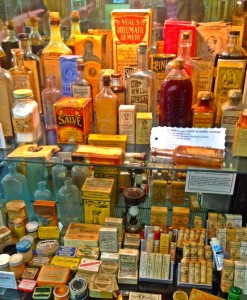 Vintage Medicines and Potions at the Medical Museum (photo by Nikki Kreuzer)