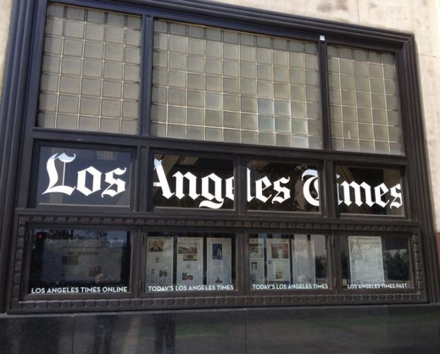 The Los Angeles Times building in downtown L.A. (photo by Nikki Kreuzer)
