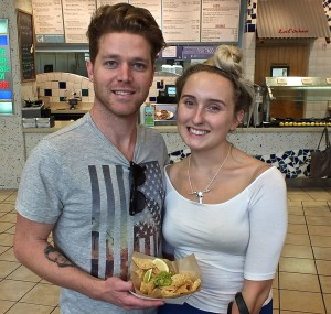 Devon and Skye are both ready to enjoy chips and guacamole on National Dip and Chip Day