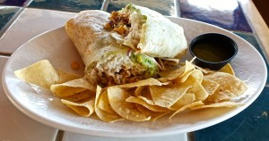 A burrito full of tender tilapia from Rubio's is the perfect thing for a spring meal in Los Angeles