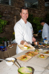Chef Craig Strong of Montage Laguna Beach with his Seared Scallops. Picture courtesy of Christine Sosa Photography with permission of Taste of the Nation Laguna Beach