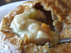 Fallbrook Cafe's Chicken Pot Pie is full of delicious goodness