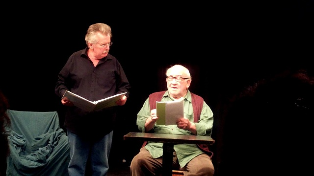 "Staged reading of ""Hobos"" and ""Pizza Man"" by Joe Estevez; Photo by Jennifer K. Hugus for The Los Angeles Beat"