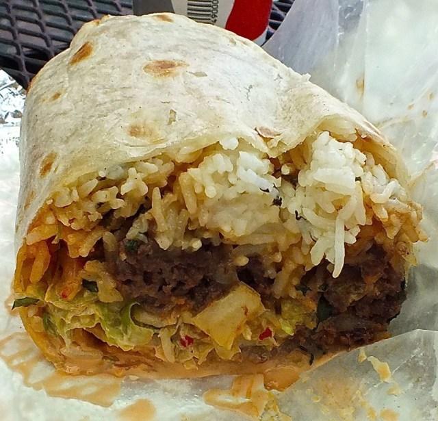 The Bulgogi Burrito at Seoulmate. Photo by Ed Simon for The Los Angeles Beat