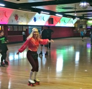 The skate floor at Moonlight Rollerway (photo by Nikki Kreuzer)