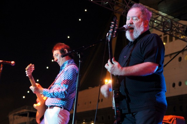 Buzzcocks' Steve Diggle and Pete Shelley at Ink N Iron 2014. Photo by Elise Thompson for the Los Angeles Beat.