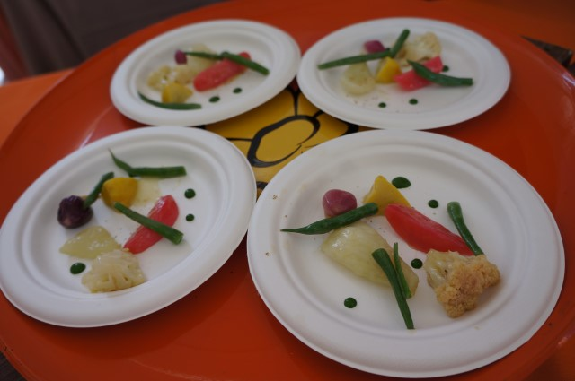 Legumes a la Grecque from Church & State Bistro Taste of the Nation 2014 (Elise Thompson)