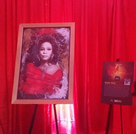 Skyler's Queen Whitney also premiered at the 365Black®Awards. (Photo courtesy Skyler Grey)