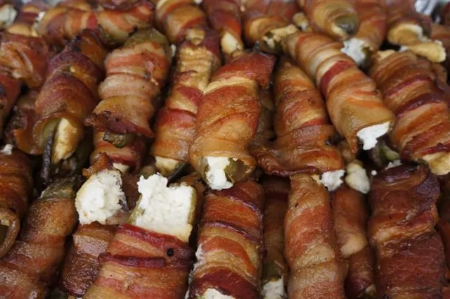 Bacon-wrapped jalapenos from The Smokehouse