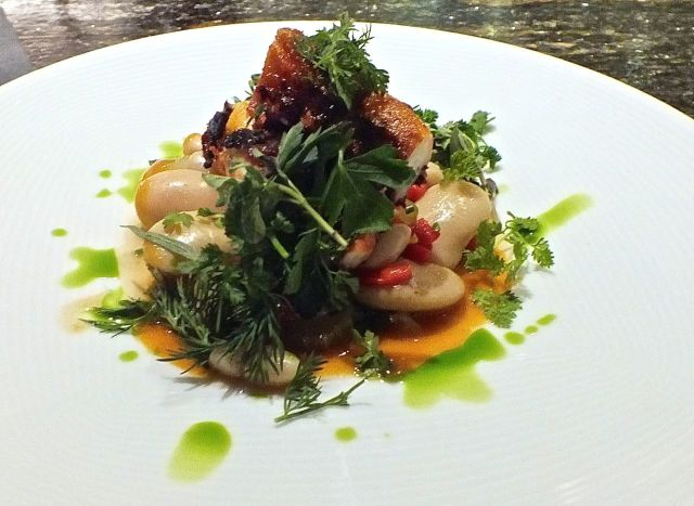Octopus a la plancha. Photograph by edward simon for The Los Angeles Beat.