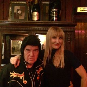 The author with Jimmy Angel at the Smoke House in Burbank (photo by Traci Murray)