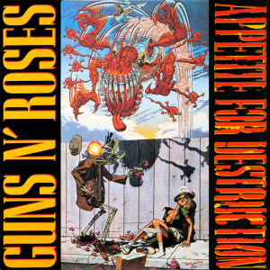 "The Gun N' Roses album cover featuring Robert Williams painting ""Appetite for Destruction"""