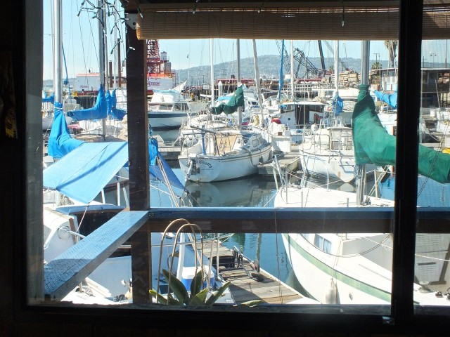 View from Window at the Chowder Barge.  Photo by Ed Simon for The Los Angeles Beat.