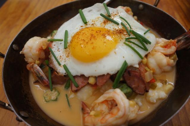 Grits and Shrimp at Tart