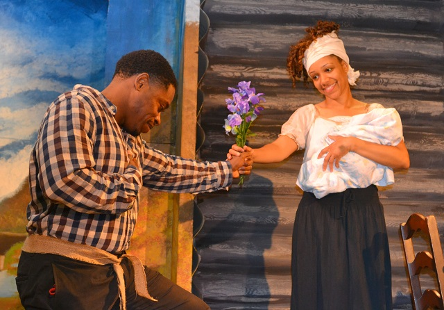 (L-R) Kareem Grimes and Chrystee Pharris as Dangerfield and Harriet Newby, Photo Courtesy of Mary Lange