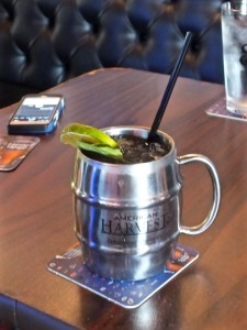 Moscow Mule in a mug. Photo by Ed Simon for The Los Angeles Beat.