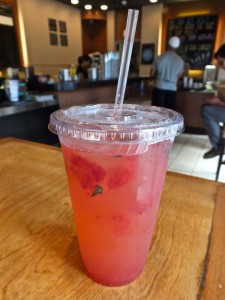 Strawberry Basil Lemonade, Yum! Photo by Ed Simon for The Los Angeles Beat.
