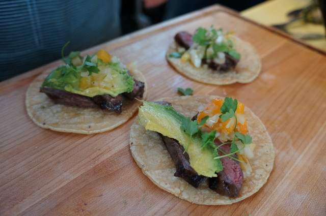 Steak taco with guacamole from Estras Ochoa ELA Meets NAPA