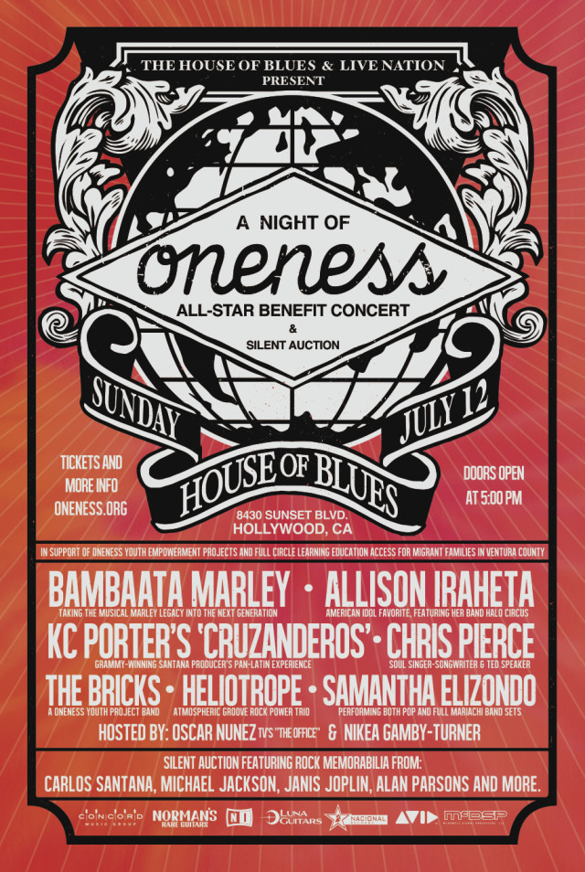 Poster for A Night of Oneness. Photo courtesy of the Media Hound PR.