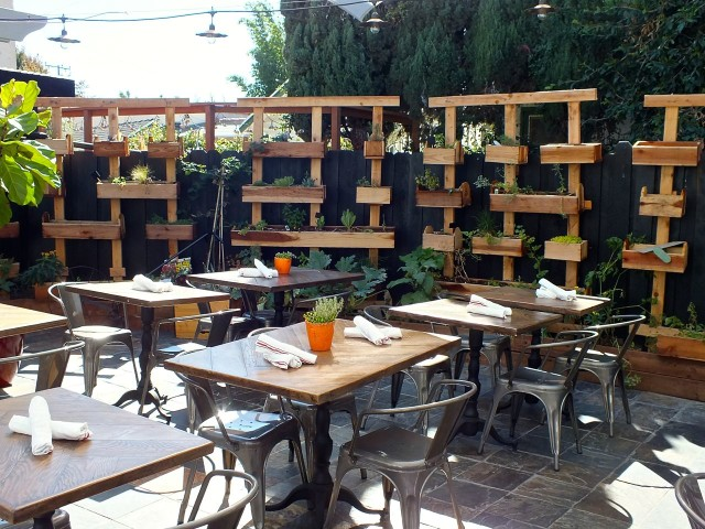 Restauration Patio. Photo by Ed Simon for The Los Angeles Beat.